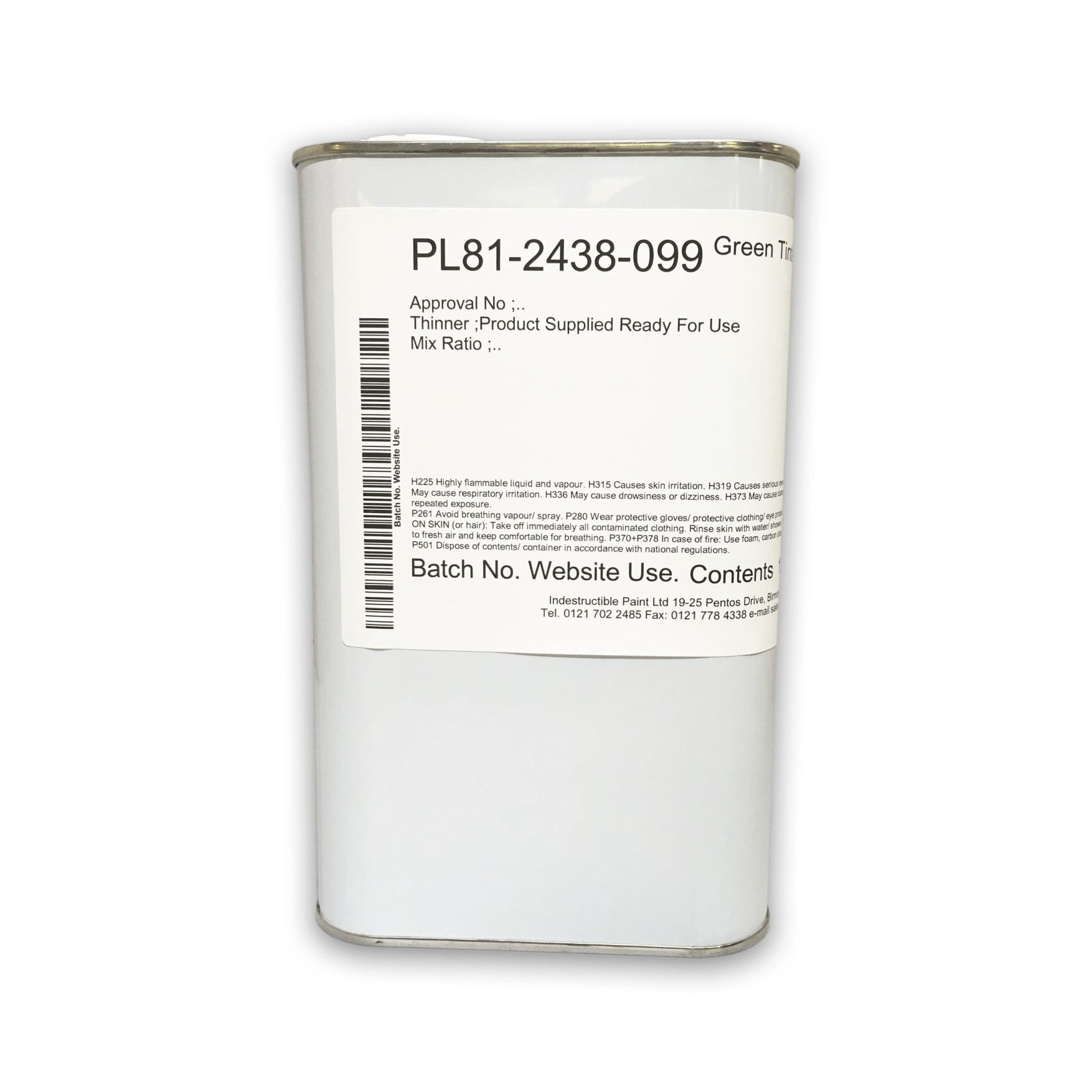 PL81-2438-099 Green Tinted Stop Off Lacquer