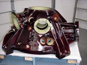 Helicopter gearbox with Rockhard coating
