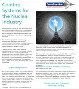 coating systems for the nuclear industry