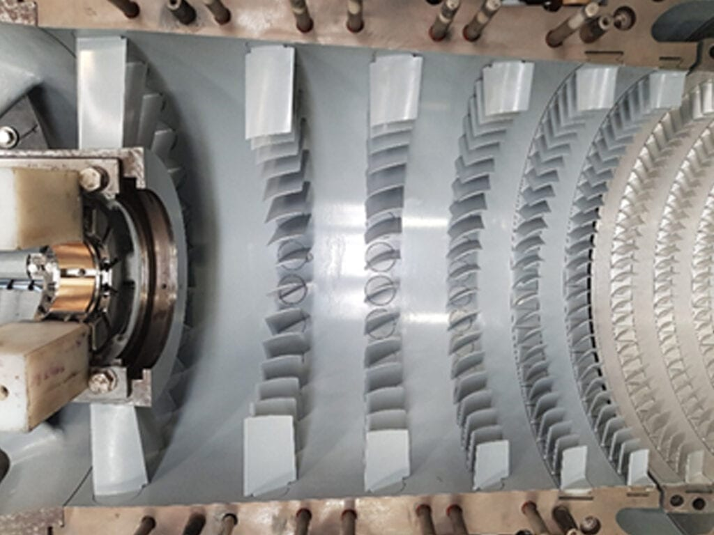 Stator blades coated with IP9183-R1