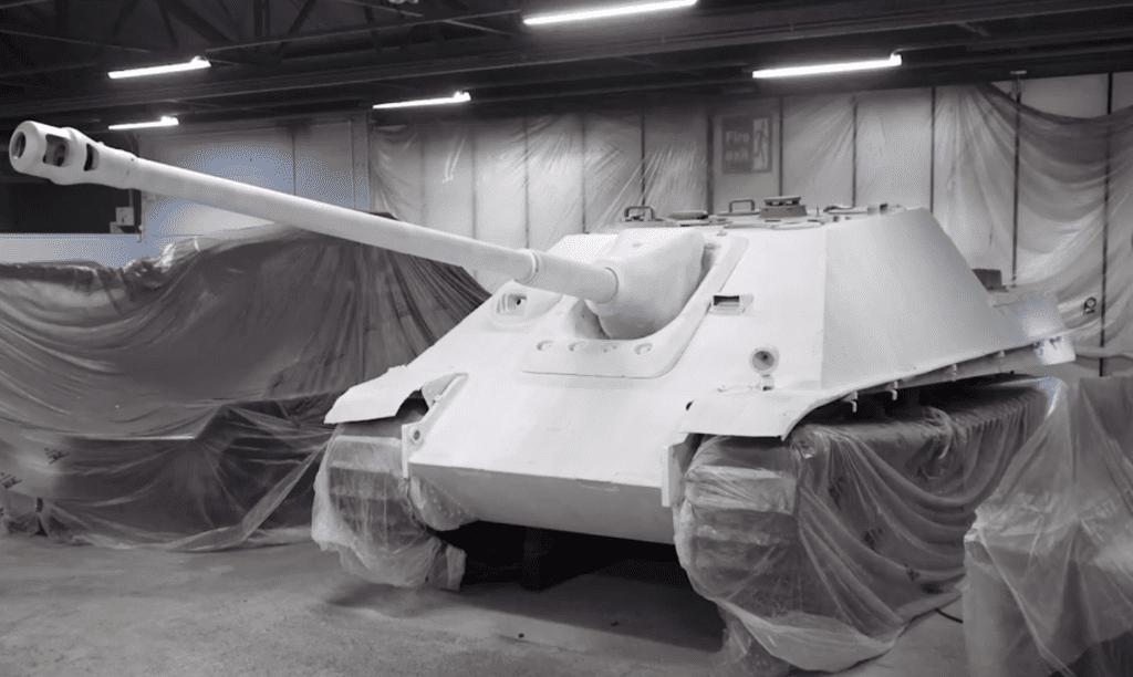 repainting world war two tank